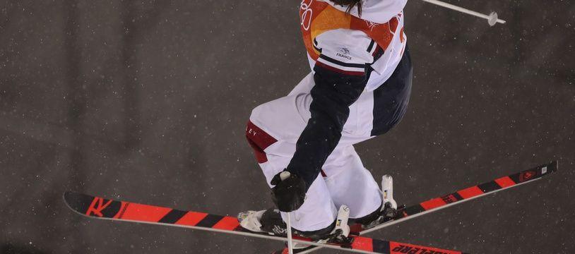 Perrine Laffont lors de son titre olympique à Pyeongchang, en Corée du Sud, le 11 février 2018.