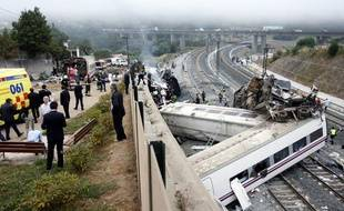 Lieu de l'accident ferroviaire survenu le 24 juillet 2013 près de Saint-Jacques de Compostelle, en Espagne.