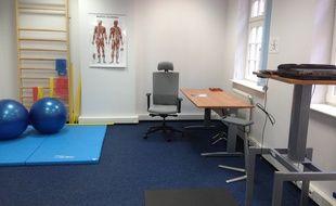 Un cabinet de kinésithérapie (illustration).