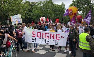 La manifestation le 30 juin à Paris est partie à 14h de l'hôpital Cochin pour rejoindre le ministère de la Santé.