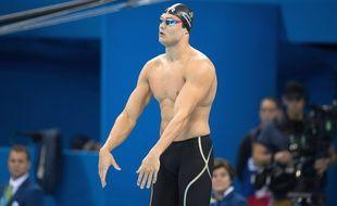 Florent Manaudou a participé à sa première compétition de natation en deux ans.