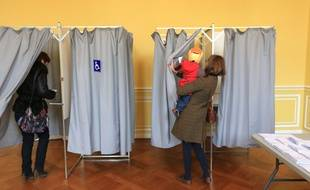 Premier tour des élections départementales, à Strasbourg, le 22 mars 2015. (Illustration)