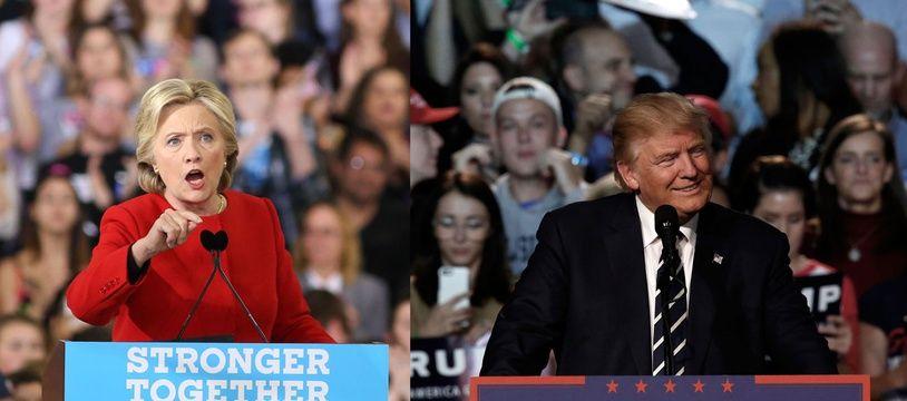 Hillary Clinton et Donald Trump sont les candidats à la présidentielle américaine de 2016.