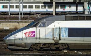 Un TGV en garde Montparnasse à Paris