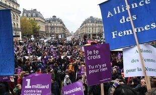 La manifestation parisienne contre les violences sexistes et sexuelles, le samedi 23 novembre 2019.