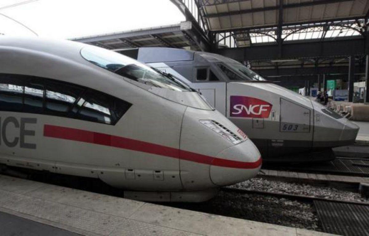 La SNCF et la Deutsche Bahn célèbrent 50 ans d'amitié franco-allemande par une offre promotionnelle sur leurs liaisons TGV mais leur alliance transfrontalière n'est que l'arbre qui cache la forêt d'une concurrence féroce entre elles sur le marché des transports publics. – Jacques Demarthon afp.com