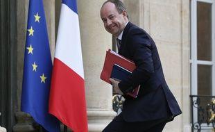 Paris, le 18 février 2015. Jean-Jacques Urvoas, président de la commission des lois à l'Assemblée nationale, arrive au palais de l'Elysée.