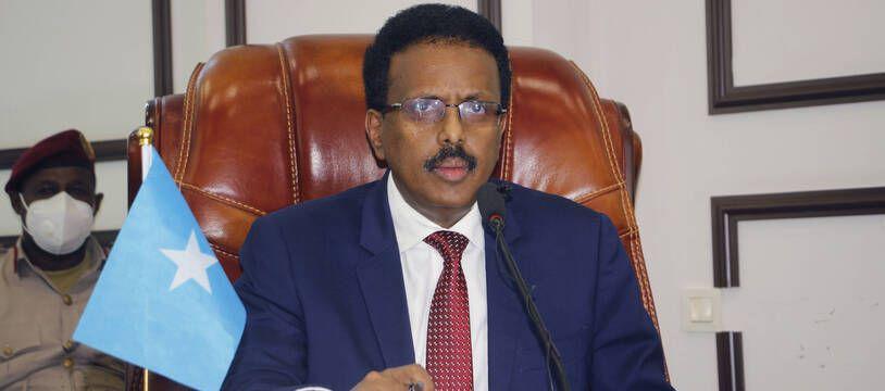 Mohamed Abdullahi Mohamed lors d'une session parlementaire en mai 2021.