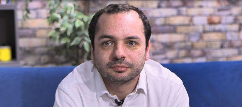 François Lambert dans le studio de 20 Minutes, en mars 2020