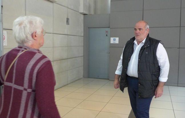 Vincent Delhomel, l'ex-porte parole de Promenade des anges, dans le palais justice de Nice en octobre 2017