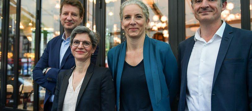 Sandrine Rousseau, Yannick Jadot, Eric Piolle et Delphine Batho en juillet 2021