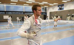Brice Guyart à l'entraînement à l'Insep, le 25 janvier 2011
