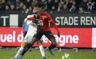 Le joueur du Stade Rennais Eduardo Camavinga a essuyé de nombreux coups lors du match face à l'OM.