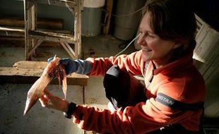 Claire Nouvian, fondatrice de l'association Bloom, milite pour la protection des fonds marins.