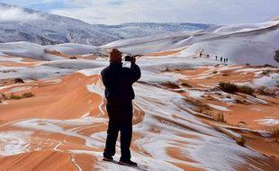 Le désert du Sahara sous la neige, le 7 janvier 2018.