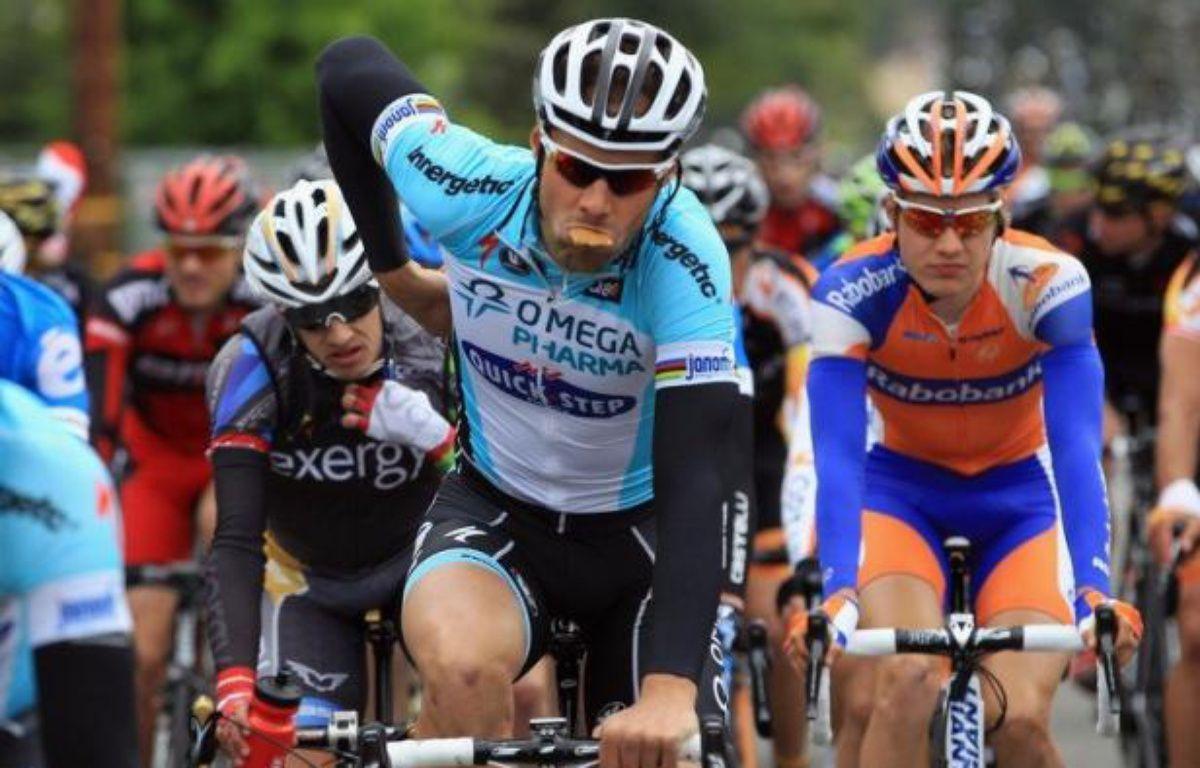 """Le Belge Tom Boonen, actuellement en tête du classement mondial, ne disputera pas le prochain Tour de France """"pour arriver frais aux jeux Olympiques"""", a-t-il annoncé mardi sur le site internet du quotidien Het Nieuwsblad. – Doug Pensinger afp.com"""