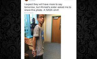 Capture écran compte Twitter @anildash à propos d'Ahmed Mohamed, lycéen au Texas.