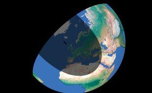 Visualisation de l'éclipse solaire du 20 mars 2015 à 10h30.
