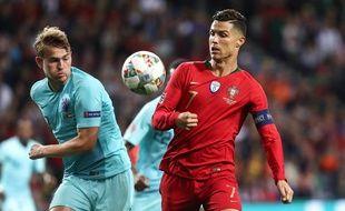 De Ligt et Ronaldo.