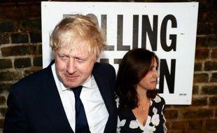 Boris Johnson et sa femme Marina Wheeler à leur arrivée au bureau de vote le 23 juin 2016 à Londres