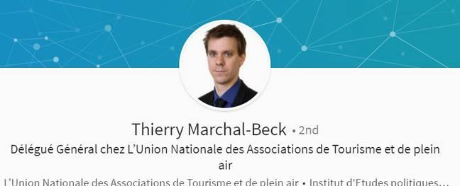 Capture d'écran du profil LinkedIn de Thierry Marchal-Beck.