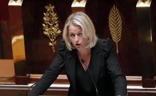 La coprésidente des députés écologistes, Barbara Pompili, à l'Assemblée nationale à Paris, le 16 septembre 2014
