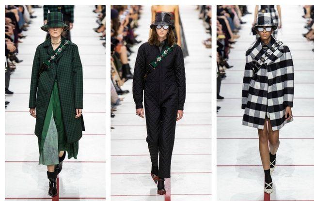 Trois looks issus de la collection fall winter 2019 de Dior.