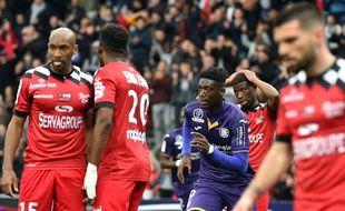 L'En Avant de Guingamp a rechuté face au TFC de Yaya Sanogo, dimanche au Stadium de Toulouse.