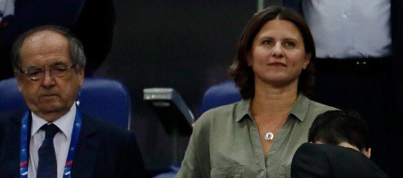 Noël Le Graët et Roxana Maracineanu au Stade de France le 10 septembre 2019.
