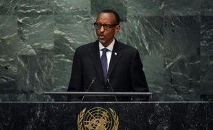 Le président rwandais Paul Kagamé à l'ONU le 29 septembre 2015 à New York