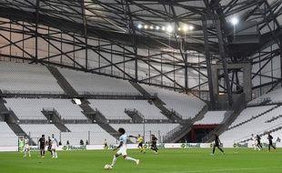 Luiz Gustavo et l'OM ont été confrontés au même contexte de huis clos total que les Lyonnais, il y a deux semaines contre Francfort (1-2). Boris HORVAT