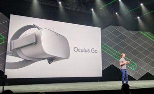 Mark Zuckerberg, le 11 octobre 2017 à la conférence Oculus Connect, à San Jose, en Californie.
