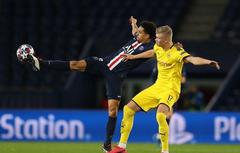 PSG-Dortmund: Les Parisiens trollent Haaland et sa célébration du ...