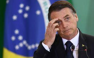 Le président brésilien Jair Bolsonaro, le 7 janvier 2019.