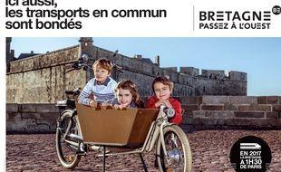 Avec l'arrivée de la LGV, la région Bretagne a lancé une importante campagne de communication à destination des Parisiens.