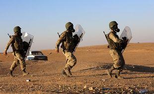 Des soldats turcs en Syrie, le 4 octobre 2014.