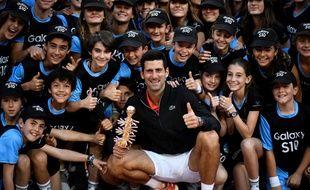 Djokovic fête sa 33e victoire en Masters 1000 avec les ramasseurs de balle