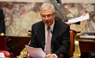 Le président de l'Assemblée nationale Claude Bartolone à l'assemblée le 8 avril 2014