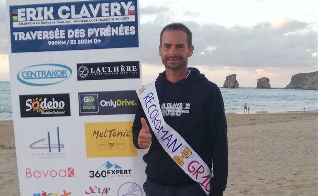 Eric Clavery, nouveau recordman de la traversée des Pyrénées.