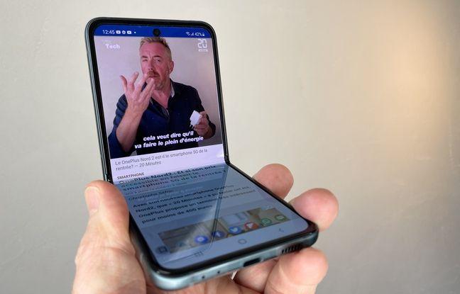 Mode fleksibel Galaxy Z Flip 3.