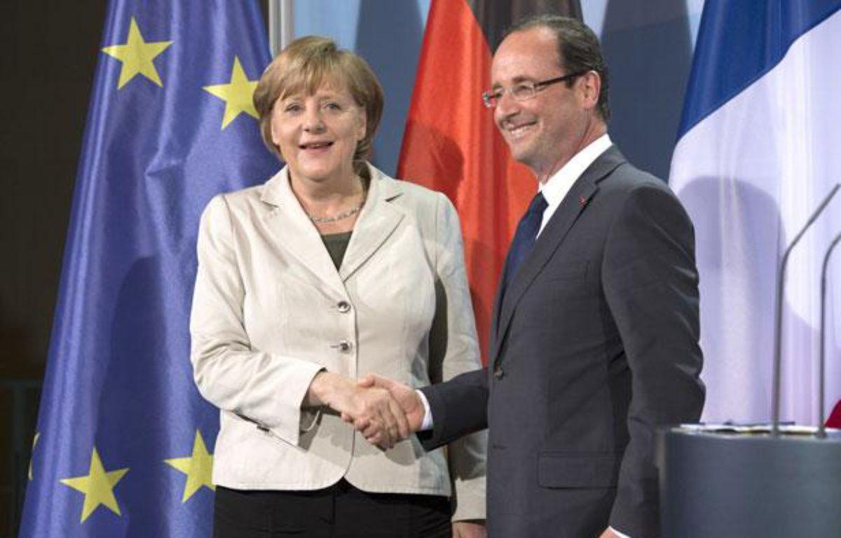 Angela Merkel et François Hollande à Berlin, le 15 mai 2012 – URBAN MARCO/SIPA