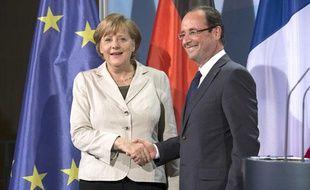 Angela Merkel et François Hollande à Berlin, le 15 mai 2012