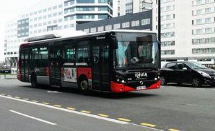 Illustration d'un bus Ilevia.