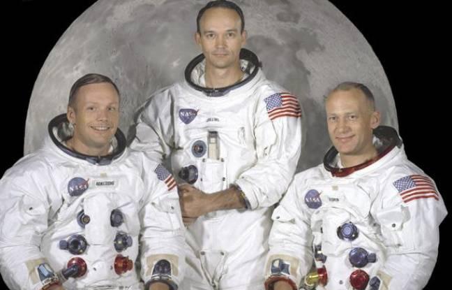 L'équipage d'Apollo 11 en mai 1969: Neil Armstrong (à gauche), Michael Collins (au centre) et Edwin «Buzz» Aldrin (à droite).