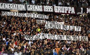 Les banderoles à Metz face au PSG