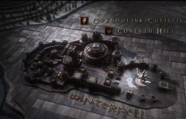 Capture écran du générique de la saison 8 de «Game of thrones». HBO