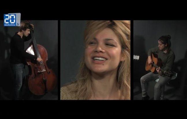 Nadéah accompagnée d'Antoine Reininger et Carly Bryant au studio de 20 Minutes