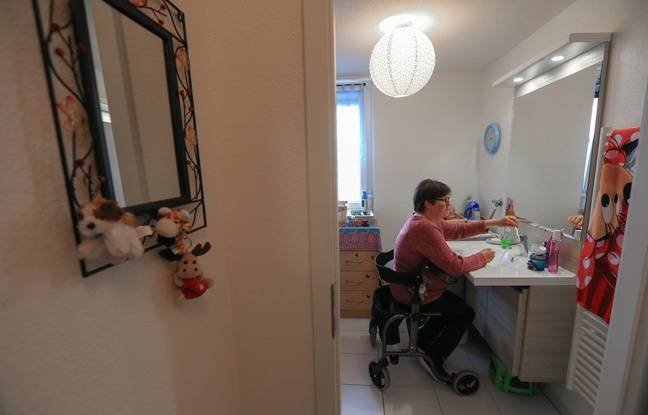 Un appartement adapté. Eschau le 15 mai 2018.