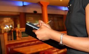 Une employée de restaurant (Illustration)