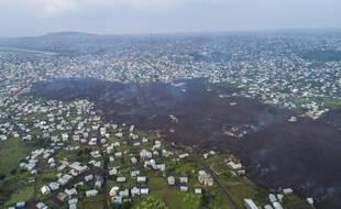 Le volcan Nyiragongo, qui domine Goma et le lac Kivu s'est réveillé dans la nuit du 22 au 23 mai.